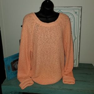 New $98 Free People Tangerine Chuncky Knit Sweater